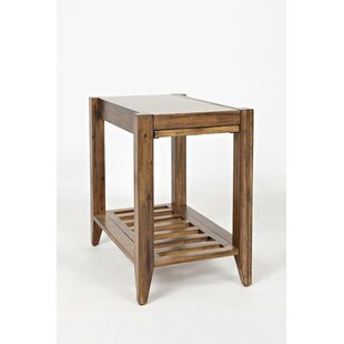 Read Reviews Cantrell Transitional Wooden Chairside End Table by Millwood Pines