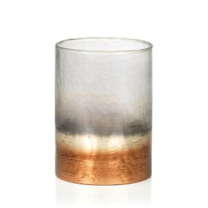 Cylindrical Fire and Ice Candle Glass Hurricane