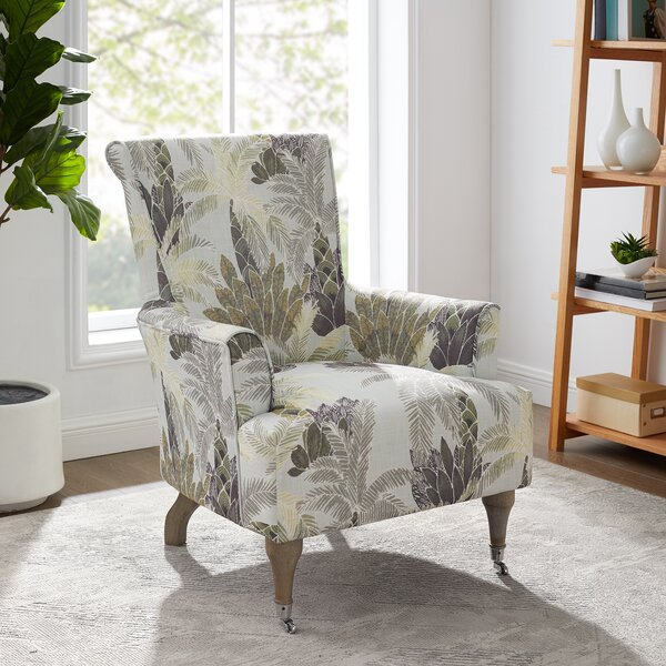 Leaf Print Chair Wayfair