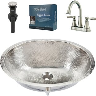 Sinkology Pavlov All-in-One Metal Oval Undermount Bathroom Sink with Faucet