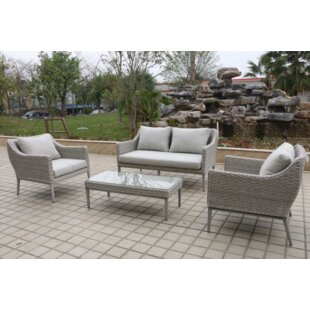 Monti 4 Piece Sofa Set with Cushions