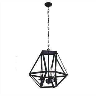Benefiel 3-Light Geometric Chandelier