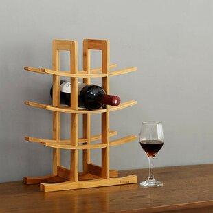 Gorgas Bamboo 12 Tabletop Wine Bottle Rac..