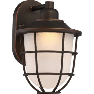 Best Choices Glencourt 1-Light Steel Outdoor Sconce By Beachcrest Home
