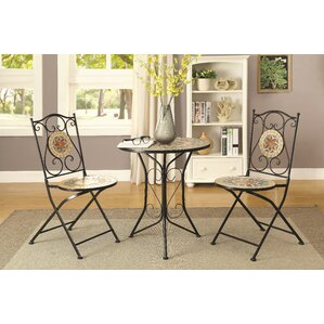 Cirque 3 Piece Dining Set by Rosalind Whe..