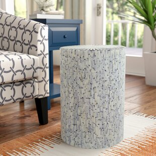 Top Reviews Borger Mosaic Wood Inlay Stool By Beachcrest Home
