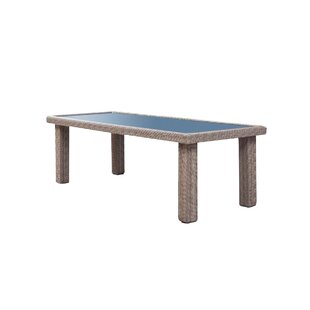Norman Outdoor Rectangular Wicker Dining Table