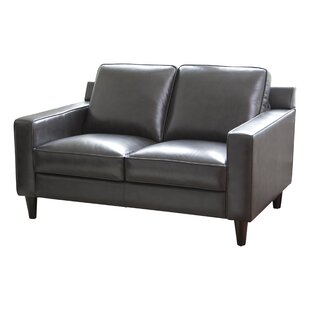Nalston Leather Loveseat