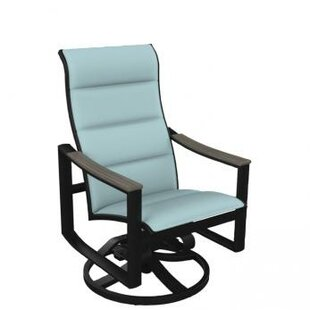Brazo Padded Sling High Back Swivel Rocking Chair