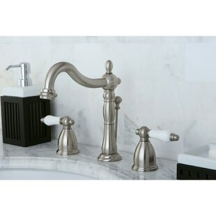 Heritage Widespread Bathroom Faucet with Drain Assembly by Kingston Brass