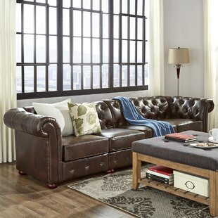 Gowans Traditional 4-Seater Button-Tufted Chesterfield Sofa by Three Posts Best #1