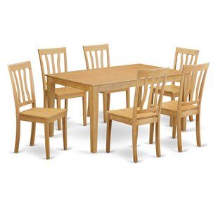 Capri 7 Piece Dining Set by Wooden Import..