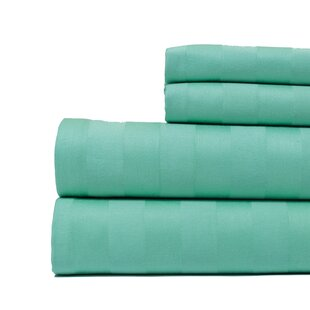 Aspire Linens 4 Piece 500 Thread Count Egyptian Quality Cotton Sheet Set