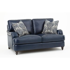Marissa Leather Loveseat by Darby Home Co
