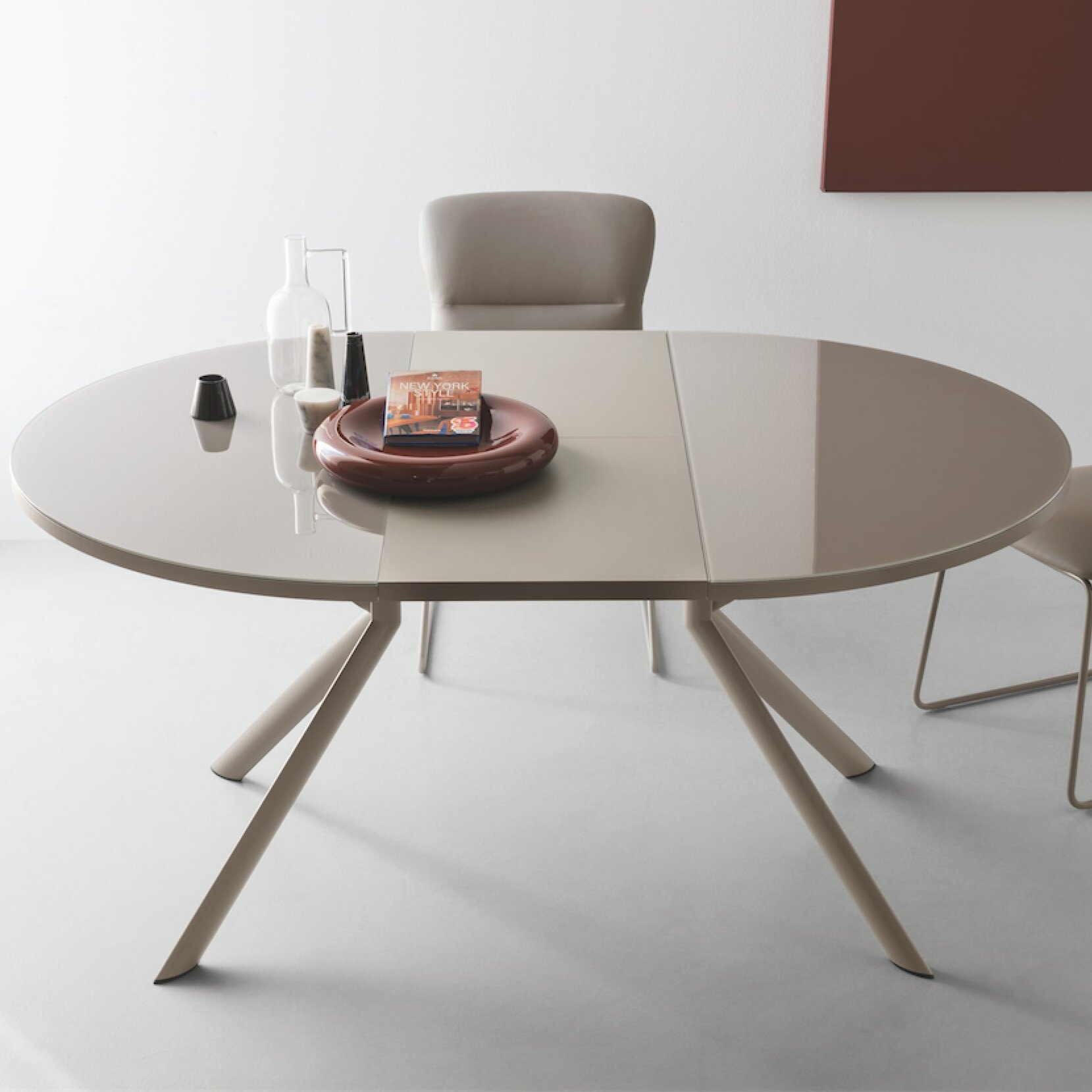 Giove Round Extendable Dining Table Allmodern
