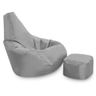 High Back Bean Bag Chair And Footstool By Zipcode Design