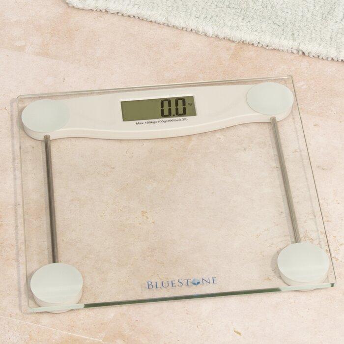 Digital Gl Bathroom Scale With Lcd Display