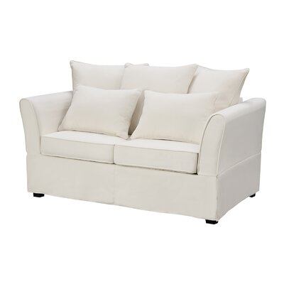 Azucena Loveseat Upholstery Color: Ivory by Beachcrest Home