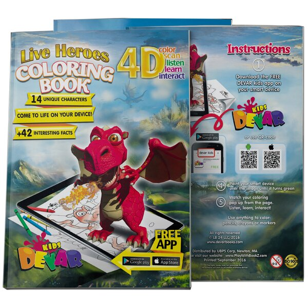 DEVAR 4D Augmented Reality Come To Life Coloring Books Live Heroes
