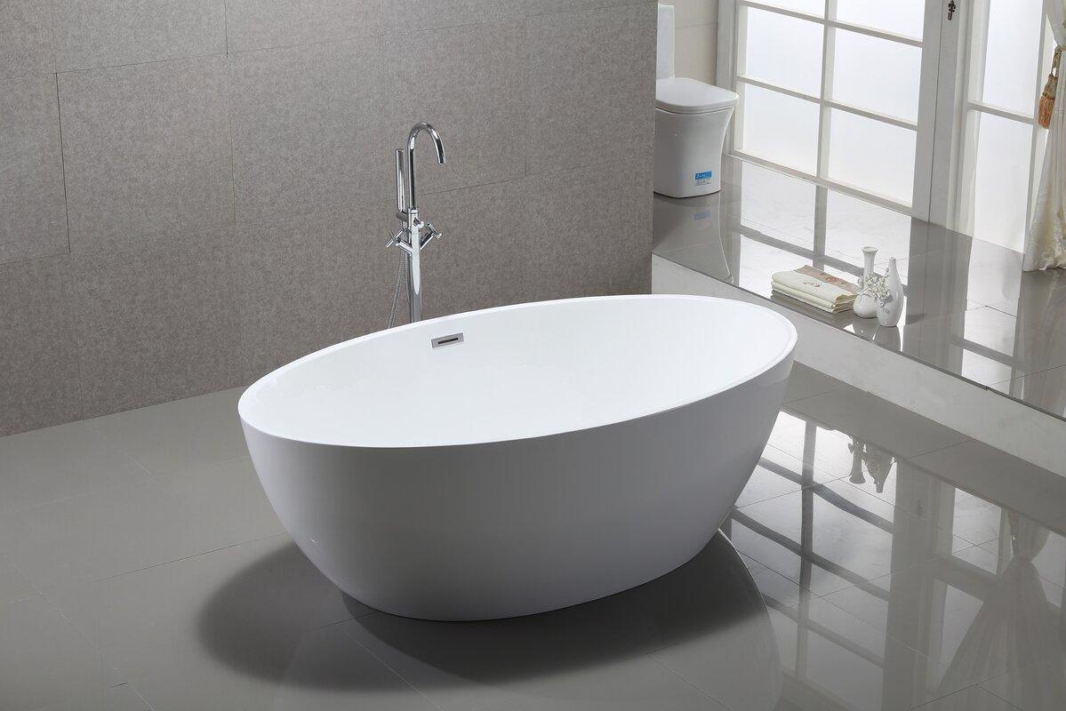 Fusion Inch Acrylic Bathtub Free Shipping Today With Biggest Bathtub.