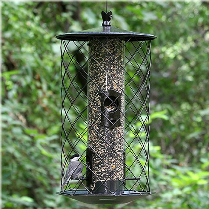 The Preserve Caged Tube Bird Feeder