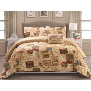 Panama Jack Home Vintage Travel 5 Piece Reversible Comforter Set