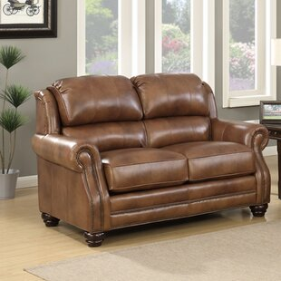 Low priced Baryzhikova Wingback Leather Loveseat by Darby Home Co Reviews (2019) & Buyer's Guide