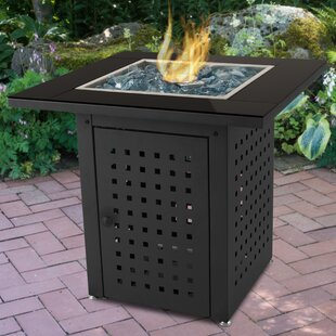 Pleasant Hearth Lockwood Steel Propane Gas Fire Pit Table