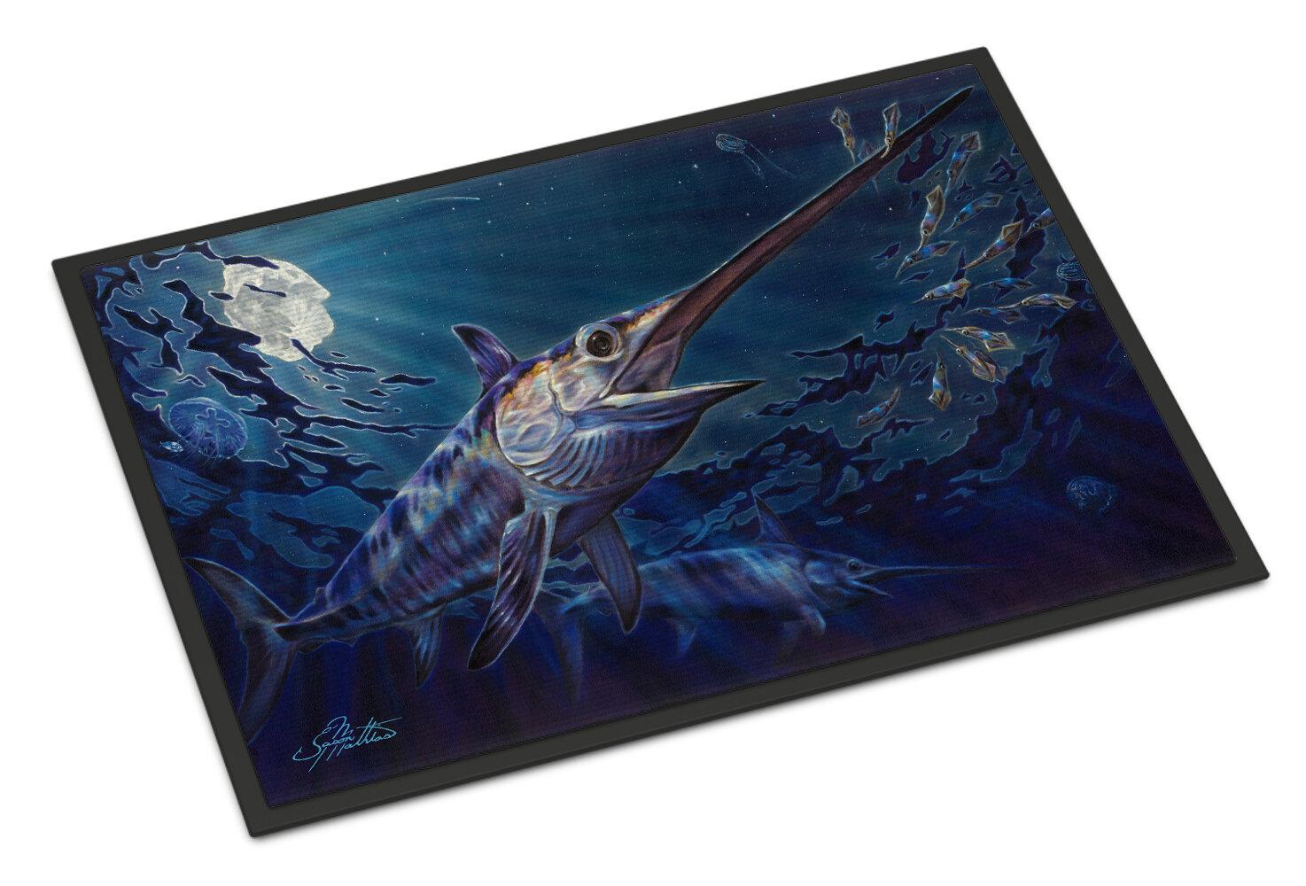 Highland Dunes Kenworthy Prince Of Darkness Swordfish 27 In X 18 In Non Slip Outdoor Door Mat Wayfair