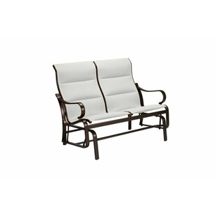 Torino Padded Sling Double Glider Chair with Cushion by Tropitone