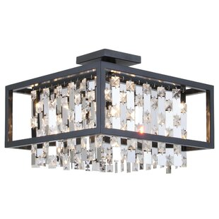 Amethyst 4-Light Semi Flush Mo..