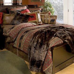 Peregrine Bear Reversible Comforter Set by Loon Peak
