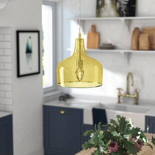 New City 1-Light Dome Pendant by Brayden Studio