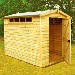 6 Ft. W X 8 Ft. D Shiplap Apex Wooden Shed By WFX Utility