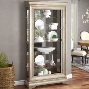 Port Pirie Lyon Lighted Curio Cabinet by One Allium Way