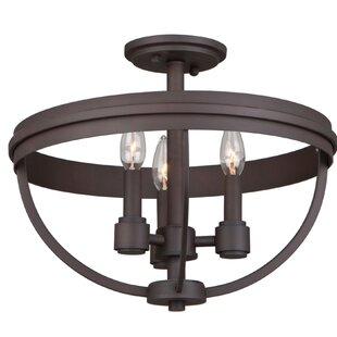 Roxbury 3-Light Semi Flush Mount by Artcraft Lighting