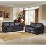 Faringdon 2 Piece Leather Living Room Set by Canora Grey
