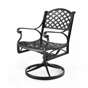 Cofield Swivel Patio Chair (Set of 2)