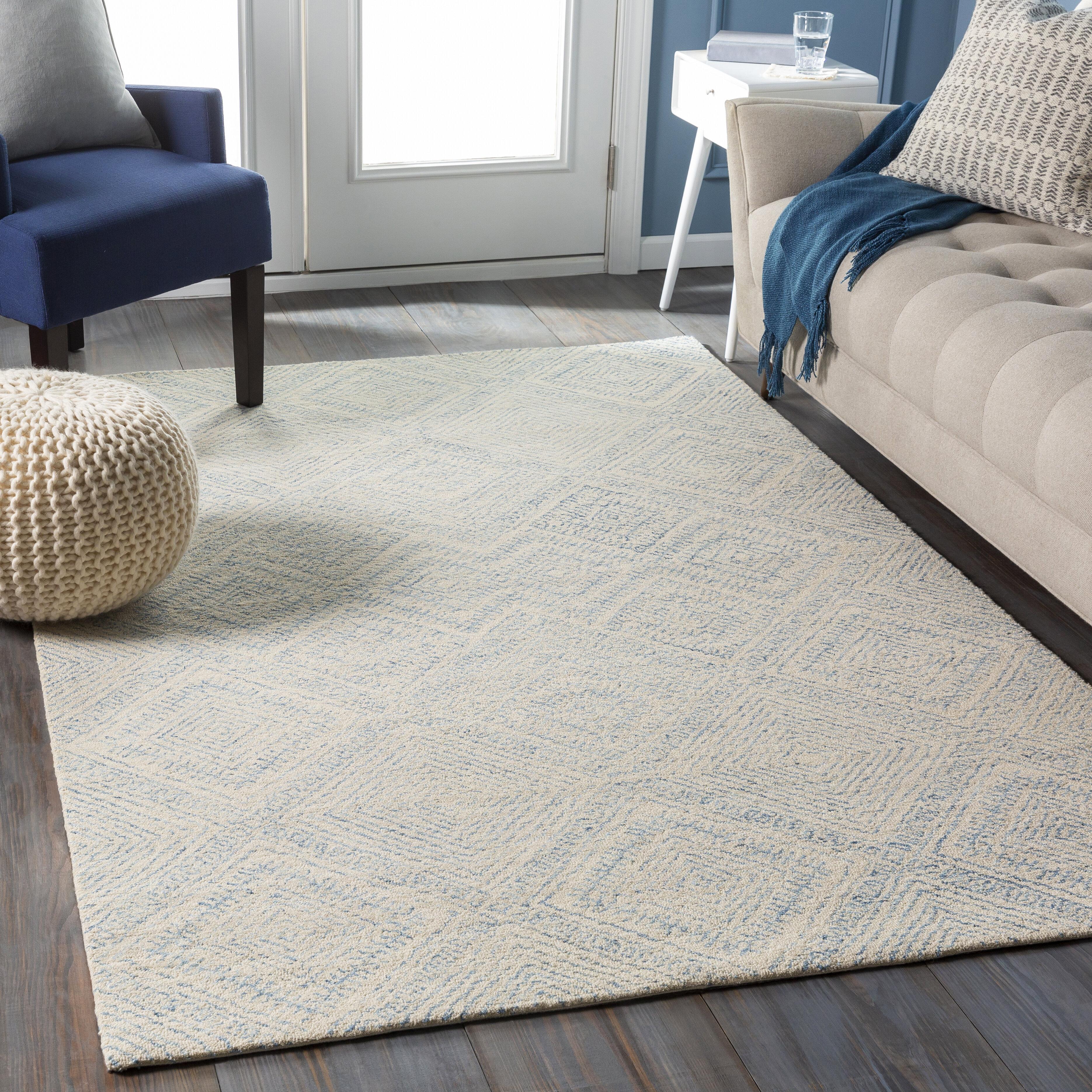 Foundry Select Pittsfield Geometric Handmade Tufted Wool Beige Area Rug Wayfair