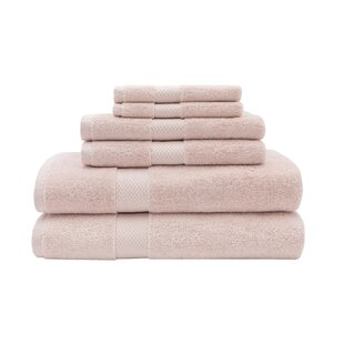 Flowery Branch 6 Piece Egyptian-Quality Cotton Towel Set