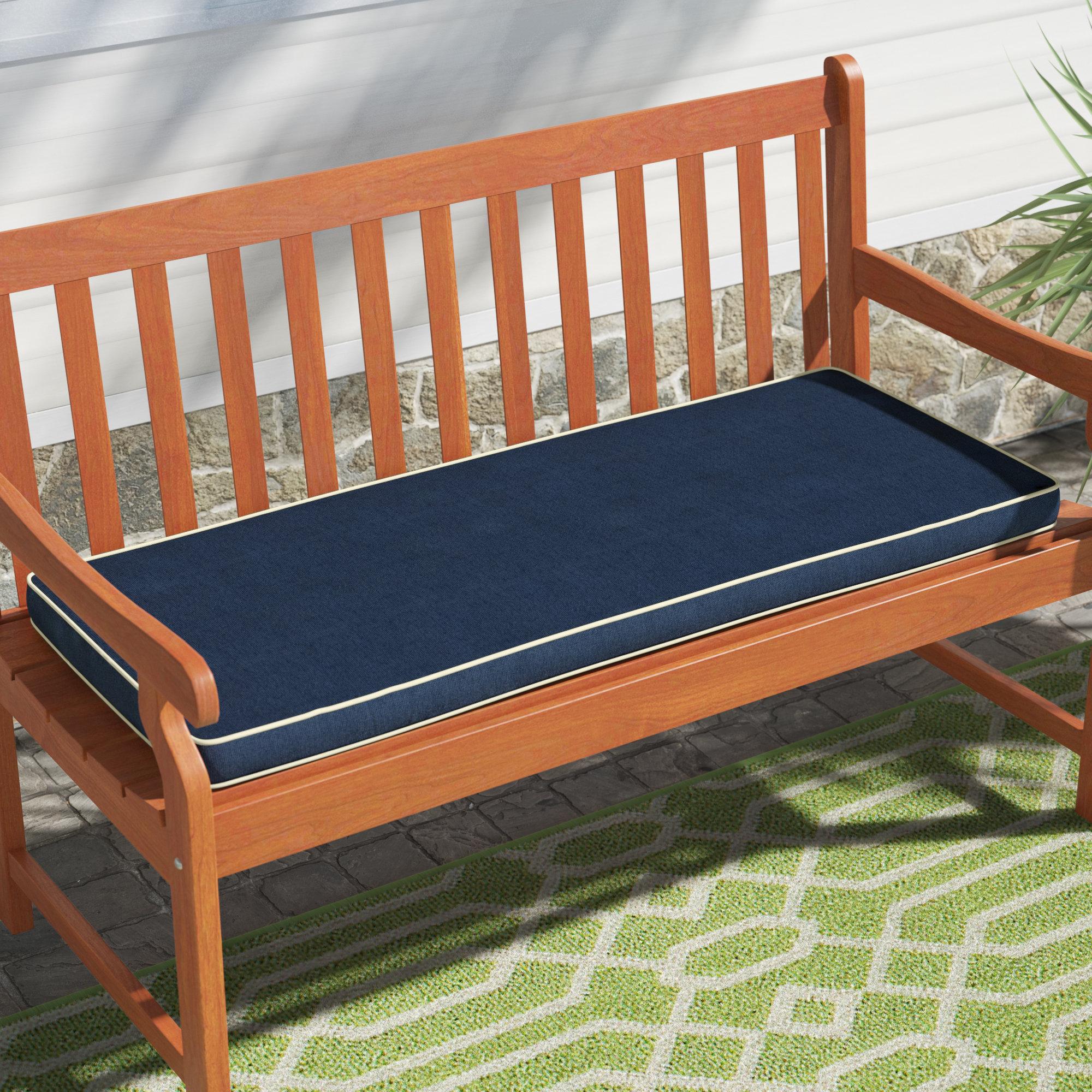 Gentil Holoubkov Indoor/Outdoor Sunbrella Bench Cushion