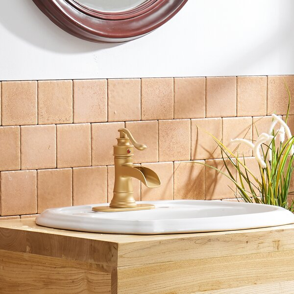 Vibrantbath Brushed Gold Single Hole Bathroom Faucet With Drain Assembly Reviews