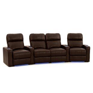 Latitude Run Diamond Stitch Home Theater Row Seating (Row of 4)