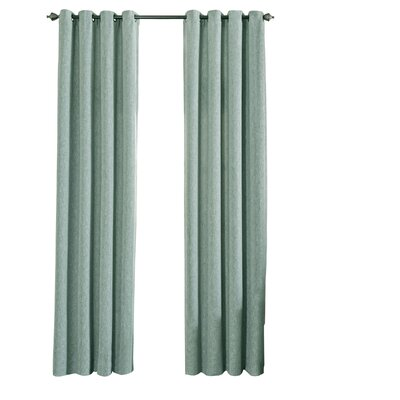 Beautyrest Arlette Solid Blackout Single Curtain Panel Color: Smokey Blue, Size per Panel: 52 W x 95 L