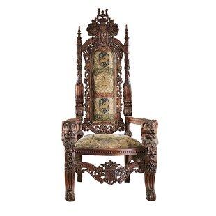 Design Toscano The Lord Raffles Lion Throne Fabric Armchair