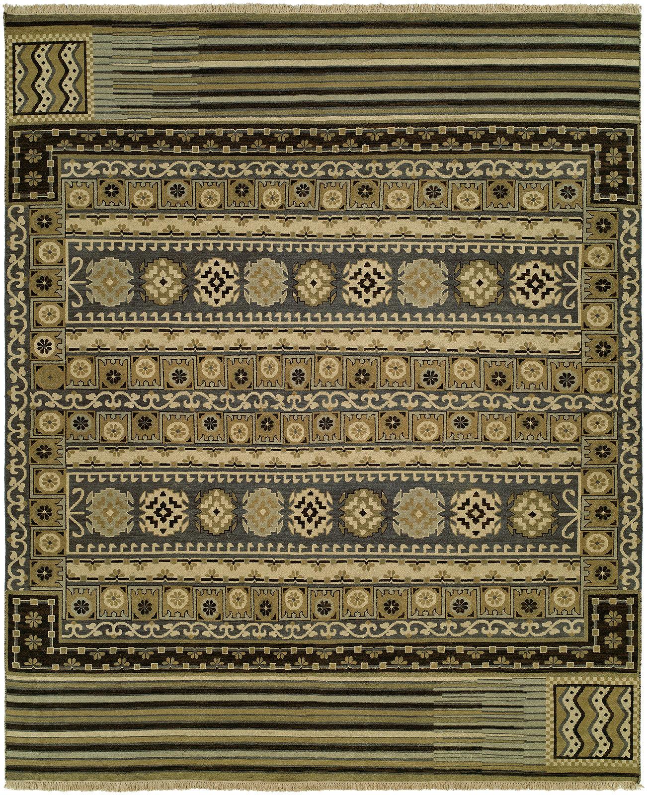 Loon Peak Joe Southwestern Wool Olive Area Rug Wayfair