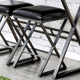 Cateline Industrial 24 Bar Stool (Set of 2) 17 Stories