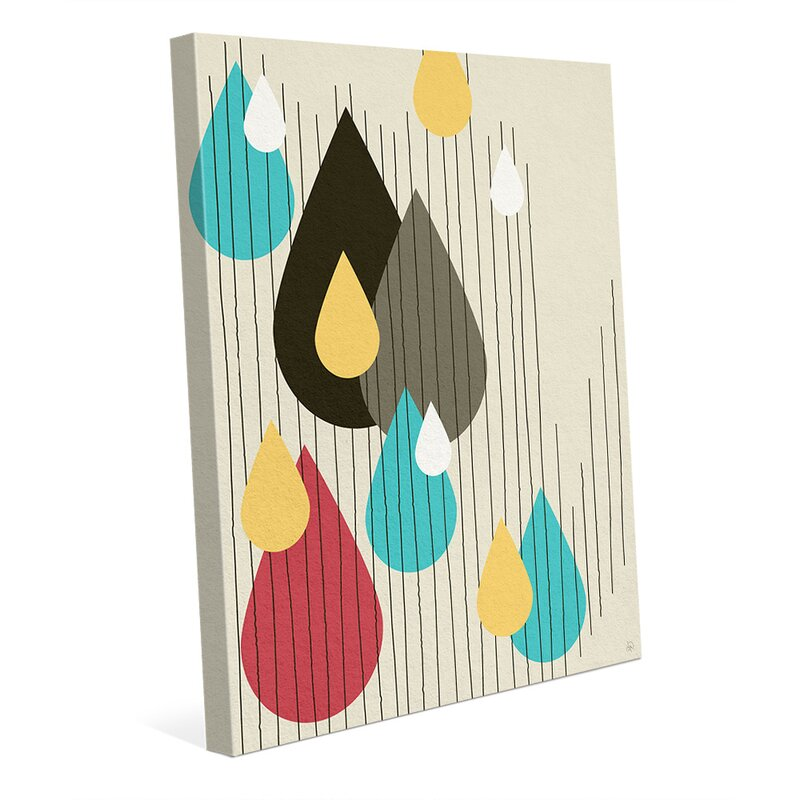 Click Wall Art Rain Drops Party Graphic Art On Wrapped Canvas Wayfair