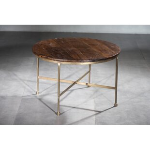 Caigan Wooden Iron Coffee Table by Bungal..