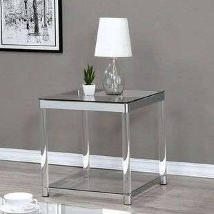 Prairie Grove Contemporary End Table by Everly Quinn